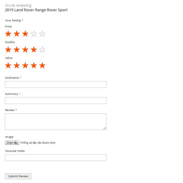 Enable Customers' Ratings and Reviews for Products