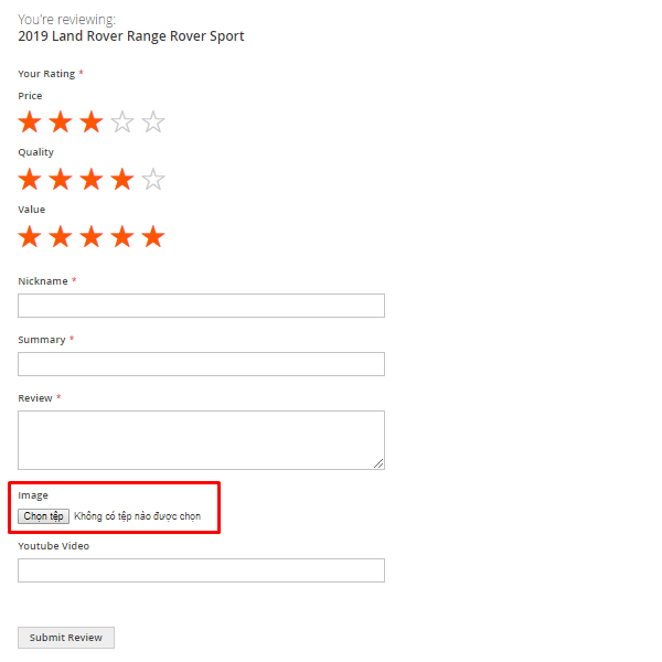 Customers can Attach Image With a Review