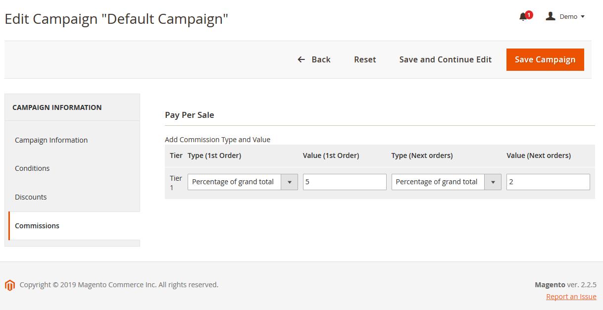 Magento 2 Affiliate Pay Per Sale