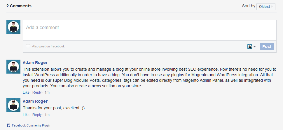 Magento 2 Blog Comment