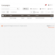 Magento 2 Affiliate Manage Campaigns