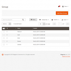 Magento 2 Affiliate Manage Groups