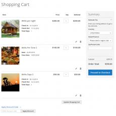 Booking shopping cart
