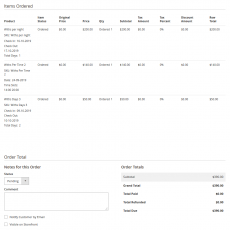 Booking view order
