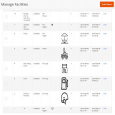 Manage booking facilities