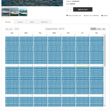 Booking details calendar by month