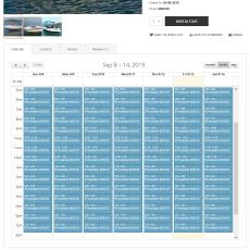 Booking details calendar by week