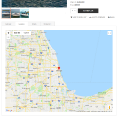 Booking details map location