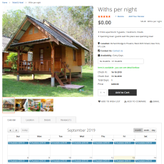 Booking withs per night
