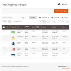 Magento 2 Faq Manage Categories