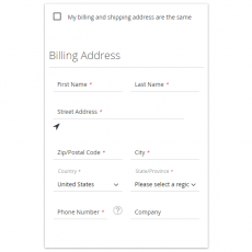 Magento 2 One Step Checkout Billing Address Box