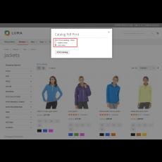 Category wise product catalog generation