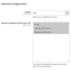 Magento 2 Product Slider General Configuration