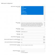 Magento 2 RMA System Configurations