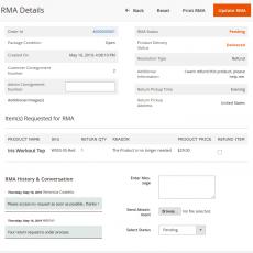 Magento 2 RMA System Details