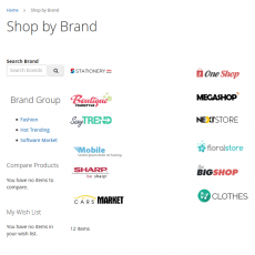 Magento 2 Shop By Brand Main Page