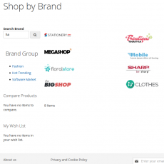 Magento 2 Shop By Brand Search Page