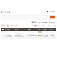 Magento 2 SMTP Emails Log