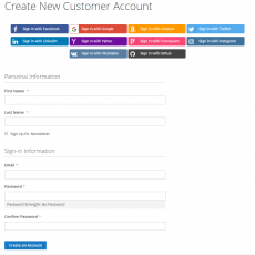 Magento 2 Social Login In Customer Create Page