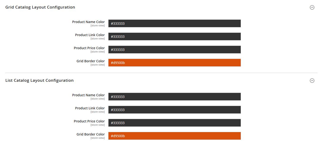 Advanced Colors Configuration