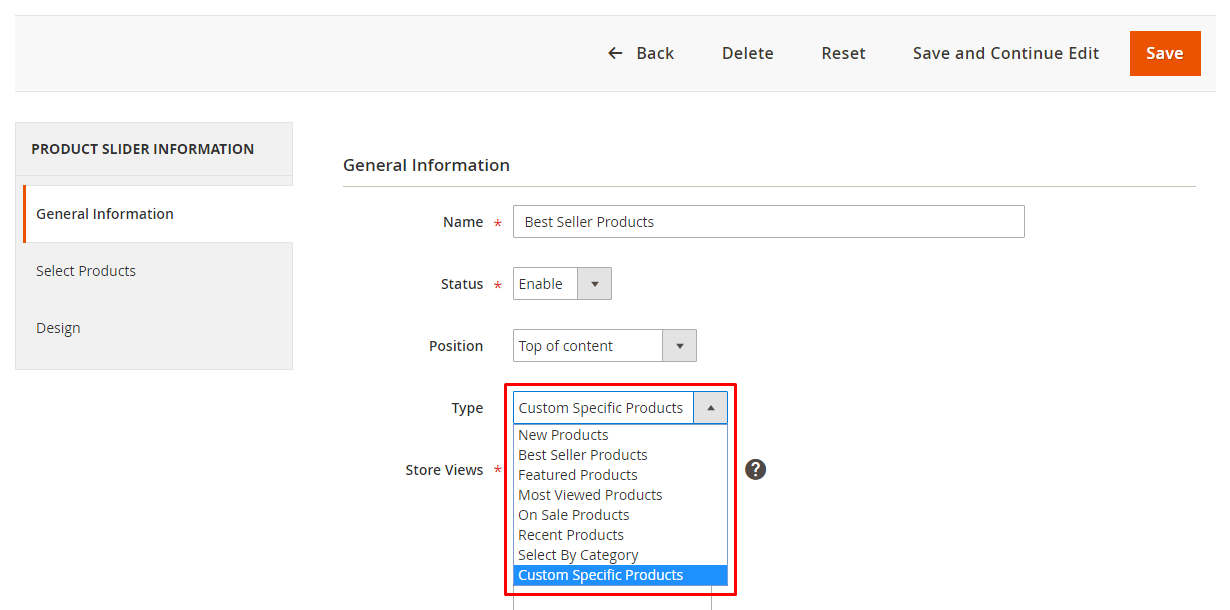 Magento 2 Product Slider Support Multiple Slider Types