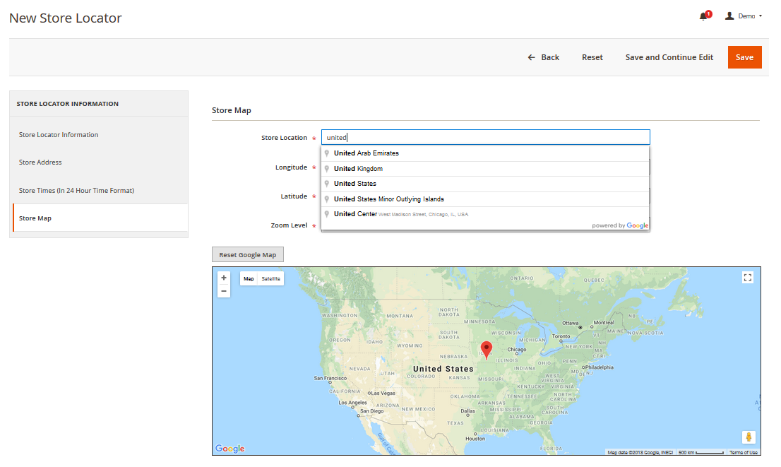 Magento 2 Store Locator Google Map